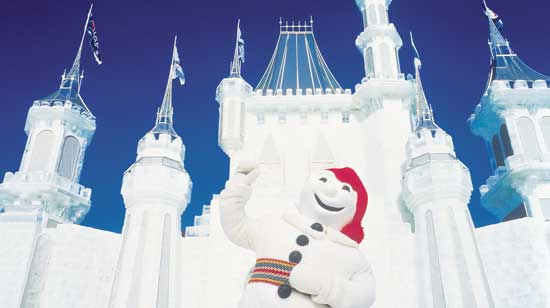 Bonhomme is the mascot for the Quebec Winter Carnival