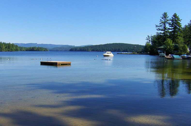 Boating on Kezar Lake in Maine