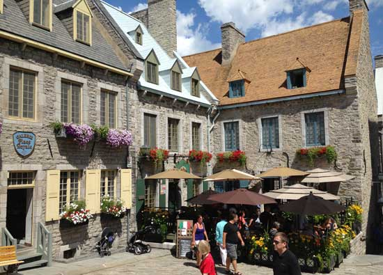 Old Québec has been named a UNESCO World Heritage Treasure. Photo by Janna Graber