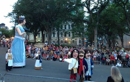 New France Festival parade in Quebec City, Quebec. Photo by Janna Graber