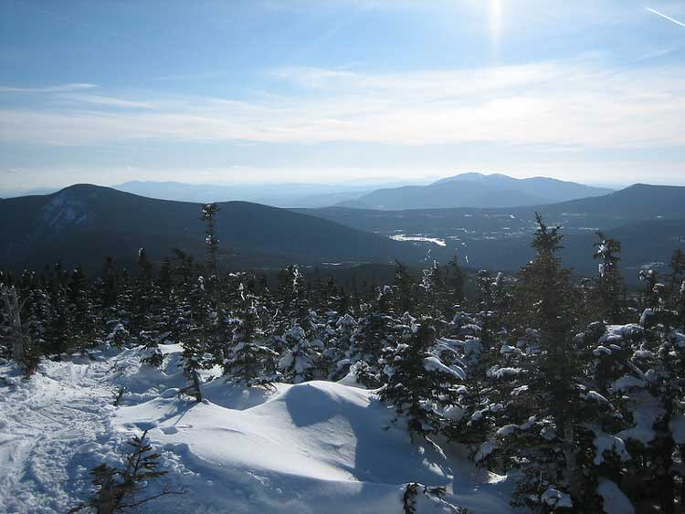 Skiing at Sugarloaf in Maine