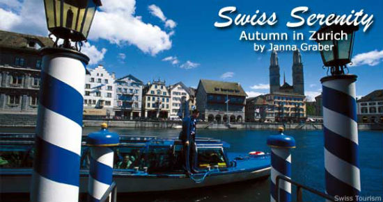 The River Limmat in Zürich has beautiful boat views.