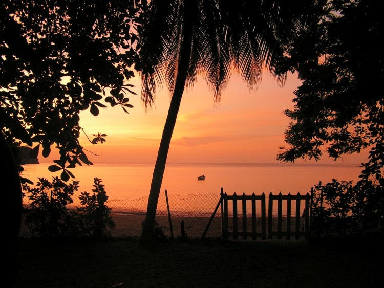 Take in the sunset on the Caribbean island of Tobago.