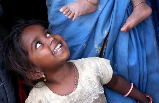 Children in India. Photo by Flickr/ Jon Blair