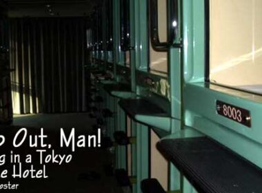 Stay in a capsule hotel in Japan