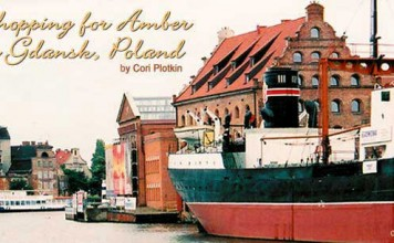 Shopping for amber in Gdansk