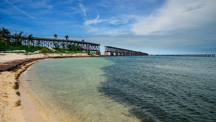 Gap in bridge at Bahia Honda State Park