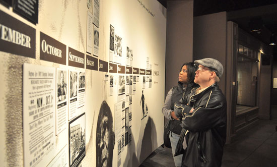 Visitors at the Civil Rights Institute in Birmingham. Photo courtesy of BCRI