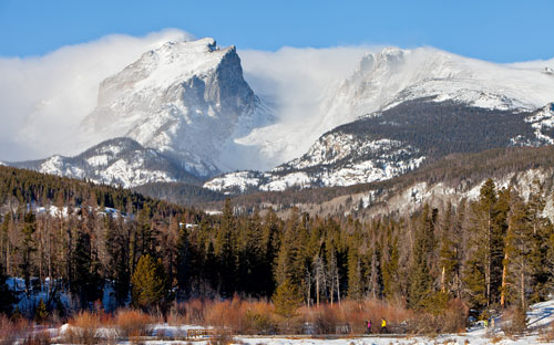 Estes Park, Colorado in the winter. Photo courtesy Estes Park CVB