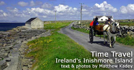 Travel in old fashioned style in a horse drawn cart.