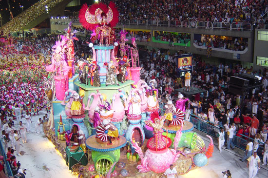 Carnaval takes place in early February throughout Brazil
