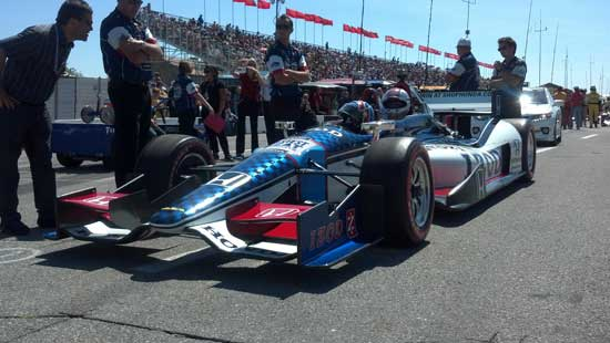 Getting ready to go. Photo by Indy Racing Experience