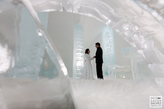 Many weddings at held at the Ice Chapel each year. © Xdachez.com