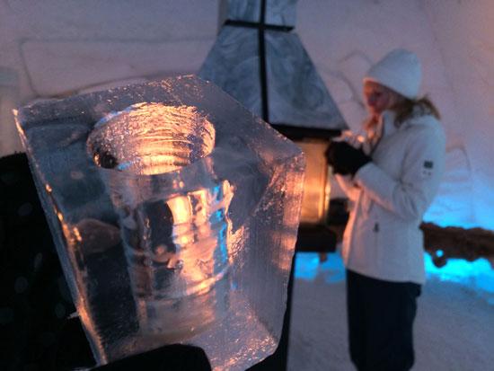 Enjoying drinks at the Ice Bar. © Benjamin Rader