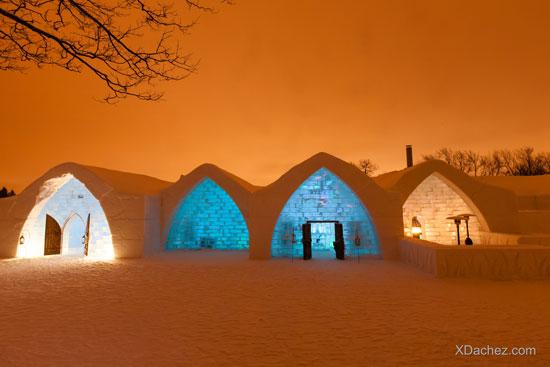 Rooms at the Quebec City Ice Hotel are a work of art.