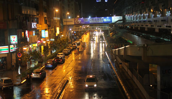 A night view of Kuala Lumpur. It rains often in the tropical city. Photo by Arman Shah/Asiarooms