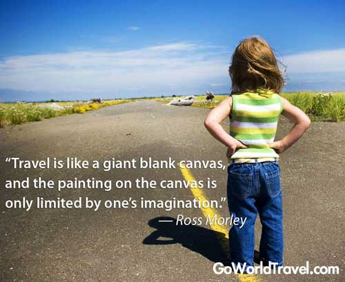 Travel is like a blank canvas