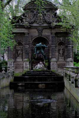 Even in daylight, the Medici Fountain in Paris hints of mystery, sensual secrets and dark mysticism.