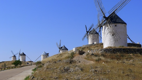 Windmills dot the 'Don Quixote Trail' between Toledo and Cordoba. Photo by Bob Schulman