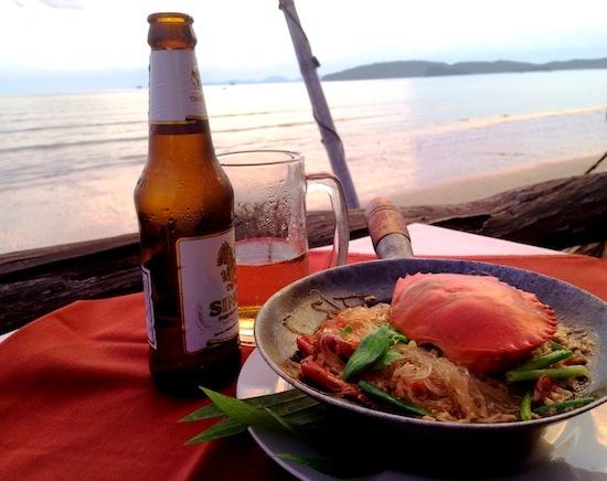Seafood dinner at Ao Nang. Photo by Ling Xin Sia