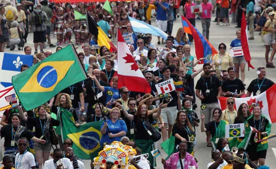 Parade of Nations at World Choir Games. Photo by Ernest Cole