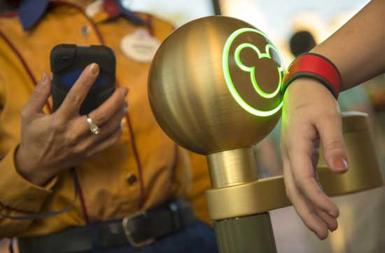 The MagicBand makes entrance to the park more convenient. Photo courtesy Walt Disney World Resort