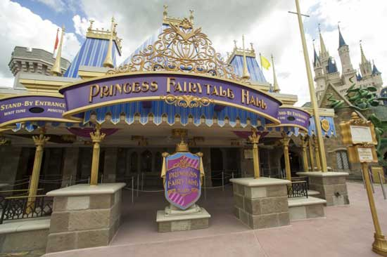Little ones can visit their favorite princesses at Princess Fairytale Hall. Photo courtesy Walt Disney World Resort