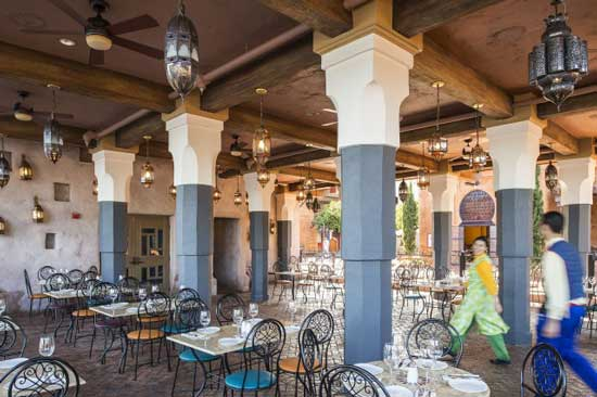Spice Road Table is a new restaurant in Epcot's Morocco. Photo courtesy Walt Disney World Resort
