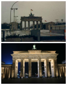Berlin in 1987 and Berlin today. Photo by Janna Graber