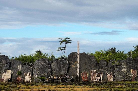 The main wall of a Taputapuatea marae. Photo by Annie Palovcik
