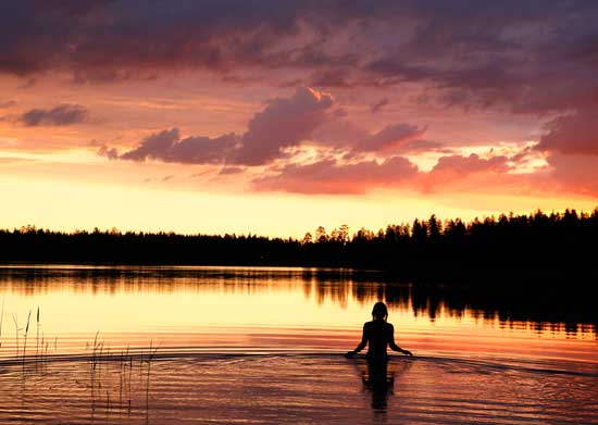 During the summer, the sun barely sets in Finland. Photo courtesy Visit Finland.