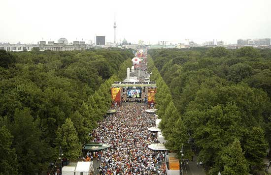 Celebrating the World Cup win in Berlin
