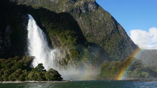 There are too many rainbows in Milford Sound.
