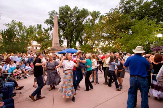 Festival fun in the Santa Fe Plaza. Photo by Chris Corrie