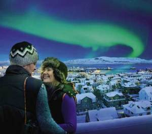 Aurora Borealis lights up the winter sky. Photo courtesy of www.iceland.is