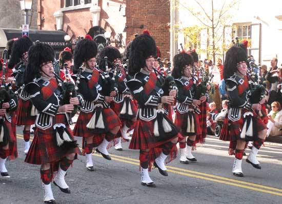 A Scottish Christmas Parade in Alexandria, Virginia. Photo Credit: Mark Webb