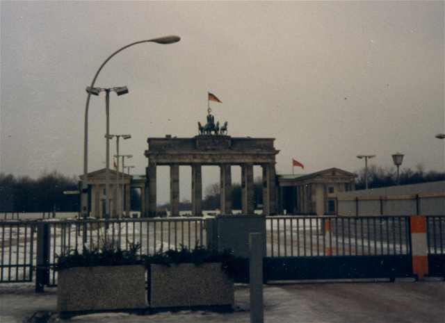 Brandenburg Gate during communist times. Photo by Janna Graber