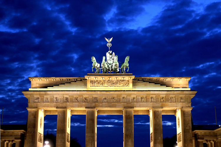 The Brandenburg Gate in Berlin today