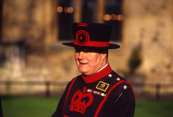 A Yeoman Warder at the Tower of London. Photo by Bob Ecker