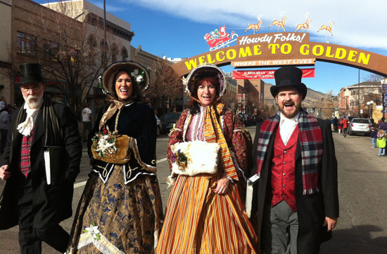 Christmas carolers in Golden, Colorado. Photo courtesy VisitGolden.com