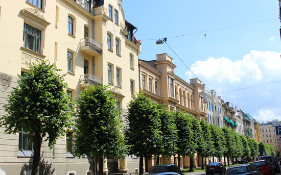 The historic center of Riga boasts one of the the largest collections of Art Nouveau buildings in Europe.