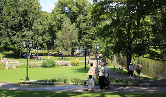 Riga has many parks throughout the city. Photo by Janna Graber