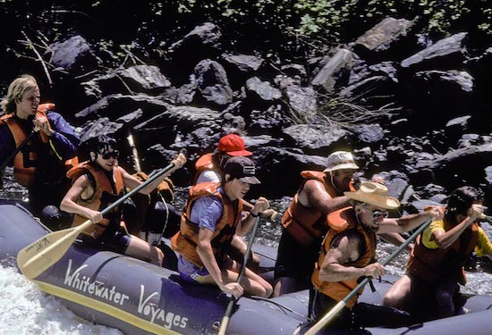 River rafting California