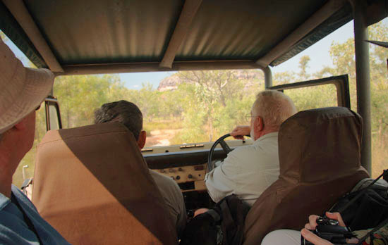 Max Davidson leads an Outback safari in Australia's Northern Territory. Flickr/Winam