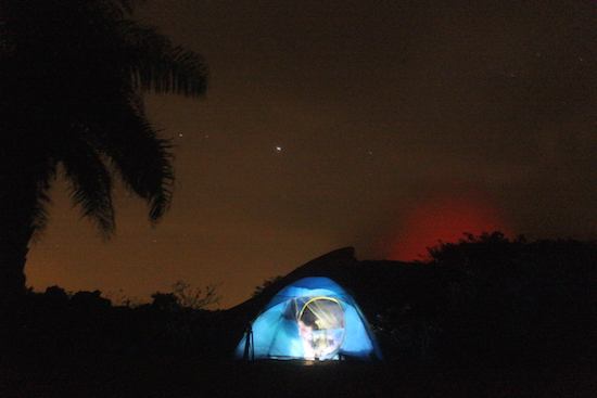 Camping on Telica Volcano, Nicaragua