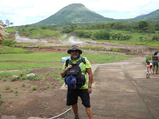Hiking up hill in Telica, Nicaragua