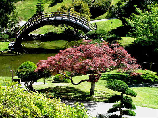 The Huntington Gardens offer picturesque views.