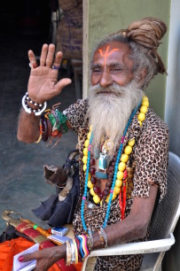 A Hindu sadhu in the small town of Anjar in Kutch, Gujarat. Photo by Mukul Satya Gupta