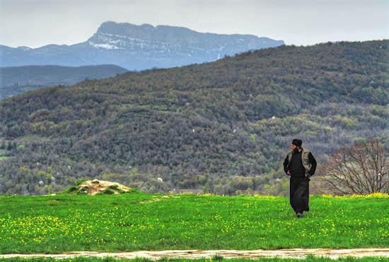 A Lone Monk in Georgia