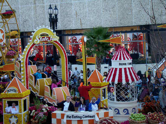The Rose Parade has a wide variety of floats.